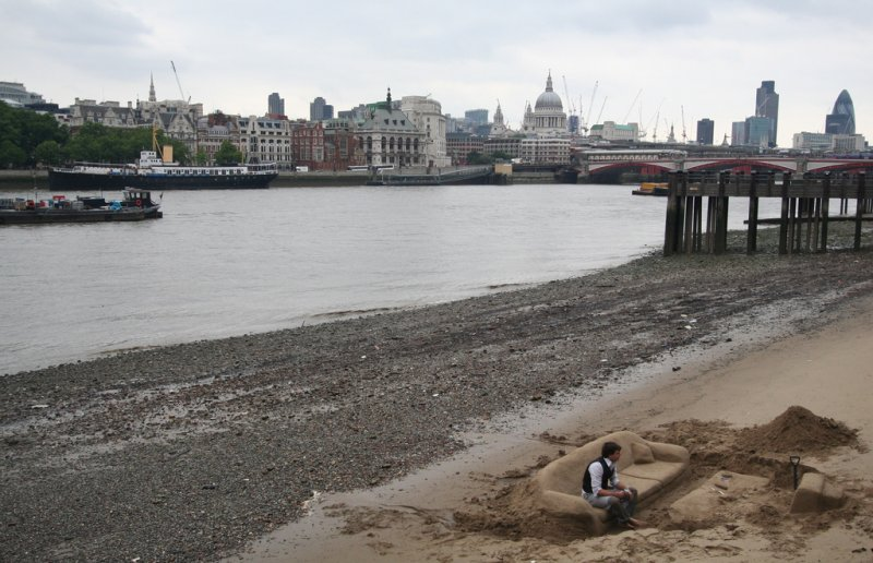 Free things to see in London: The sand sculptures