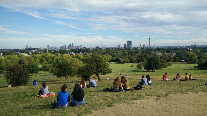 London zu zweit: Aussicht vom Primrose Hill