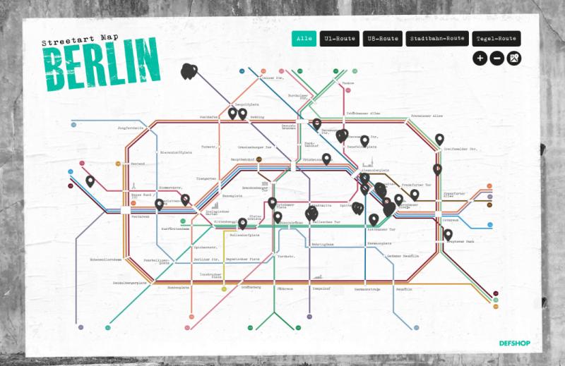 Streetart Berlin Map NeoAvantgarde