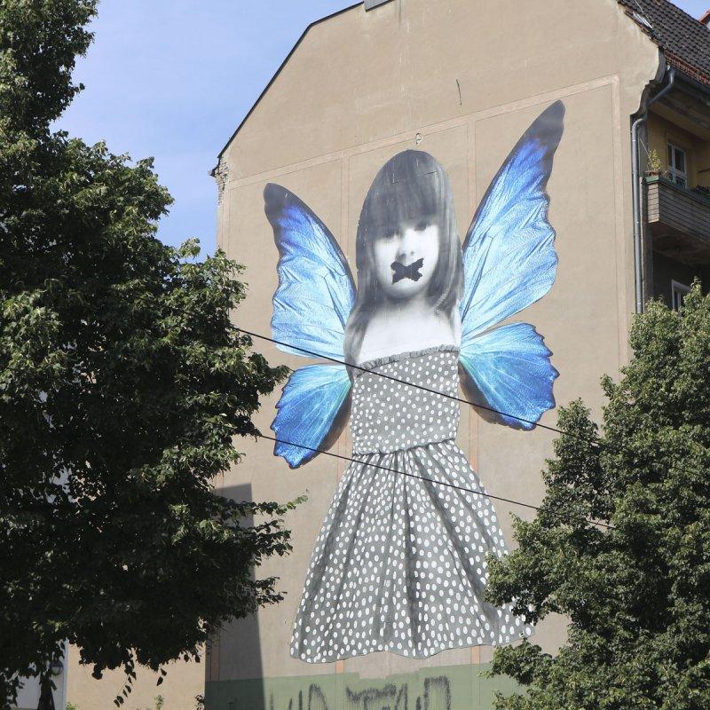 Streetart Berlin Butterfly