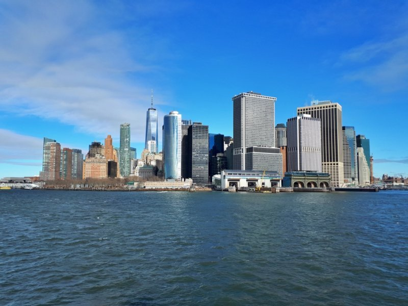 New York from the boat