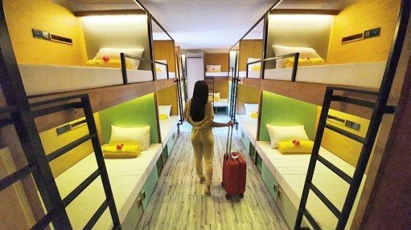 Capsule hostel Indonesia