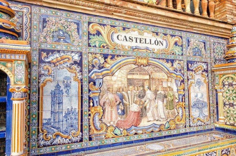 Azulejos in Plaza de Espagna