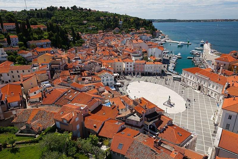 Piran city center