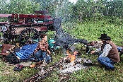 Camping out in the Saskatchewan prairies