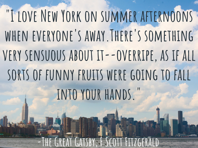 New York - F Scott Fitzgerald - Cities Through the Eyes of Writers : Famous Cities from a Writer's Perspective - Travel Quotes That Show How Writers View Your Favourite Cities