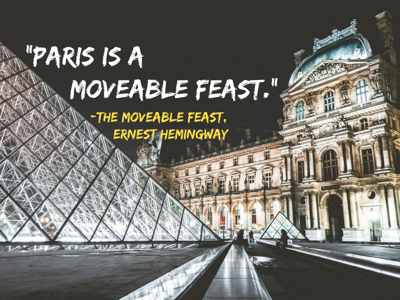 Paris - Ernest Hemingway - Cities Through the Eyes of Writers : Famous Cities from a Writer's Perspective - Travel Quotes That Show How Writers View Your Favourite Cities