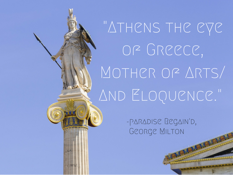 Athens - George Milton - Cities Through the Eyes of Writers : Famous Cities from a Writer's Perspective - Travel Quotes That Show How Writers View Your Favourite Cities