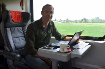 For a real nomad a train can be a good office