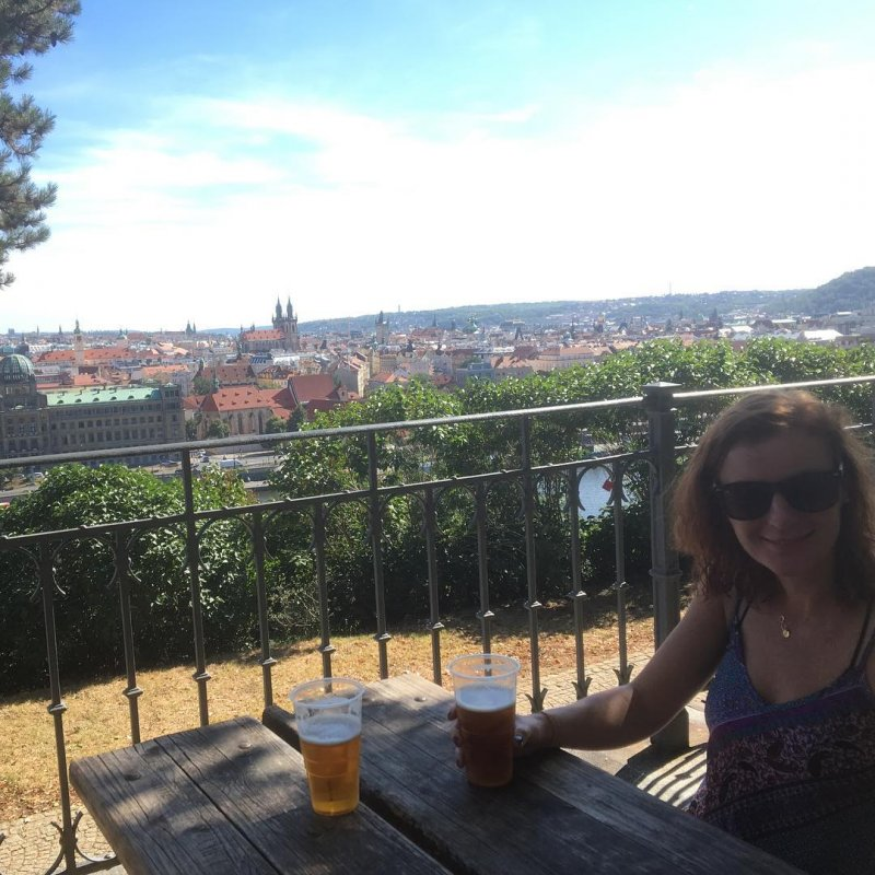 Great beer and breathtaking view of Prague: this is Letna's beer garden
