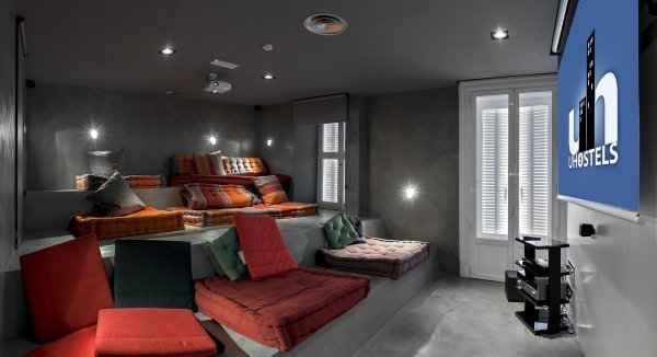 Cinema room at Safestay Madrid