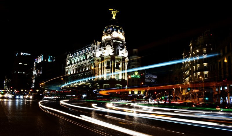 Night scene Madrid