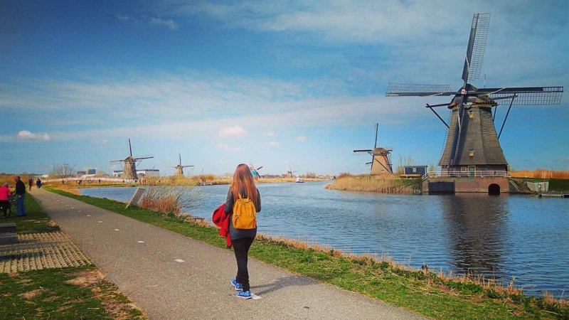The wonderul Kinderdijk windmills