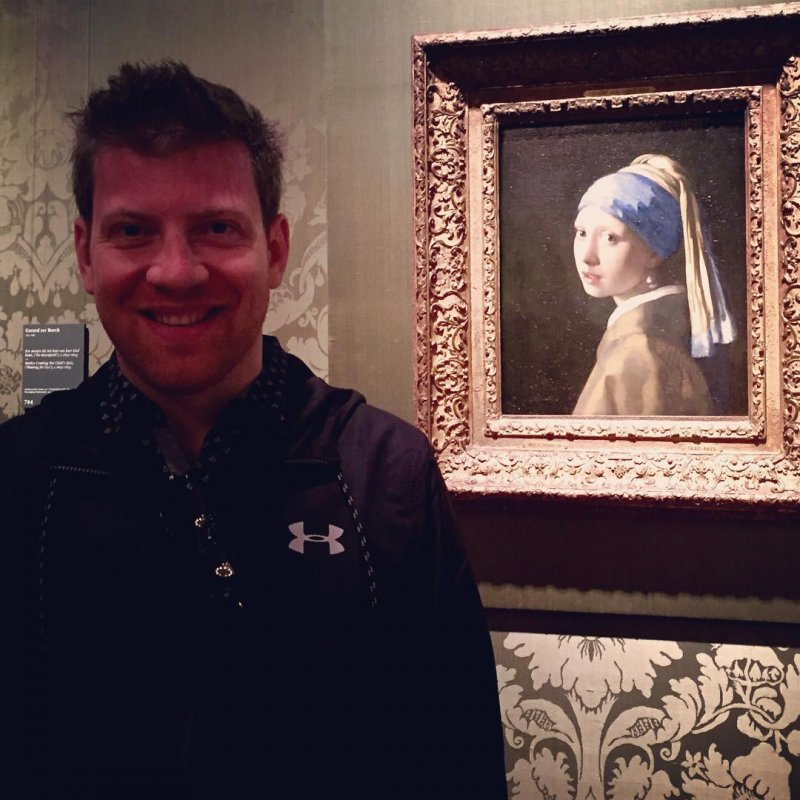 The worldwide famous Girl with a pearl earring