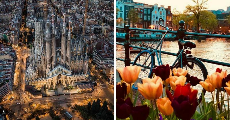 Meglio visitare Barcellona o Amsterdam?