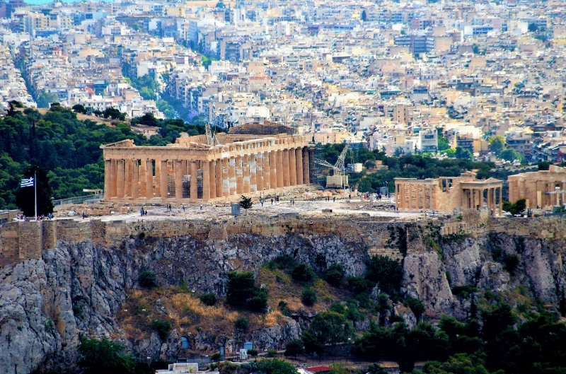 The new and old Athens