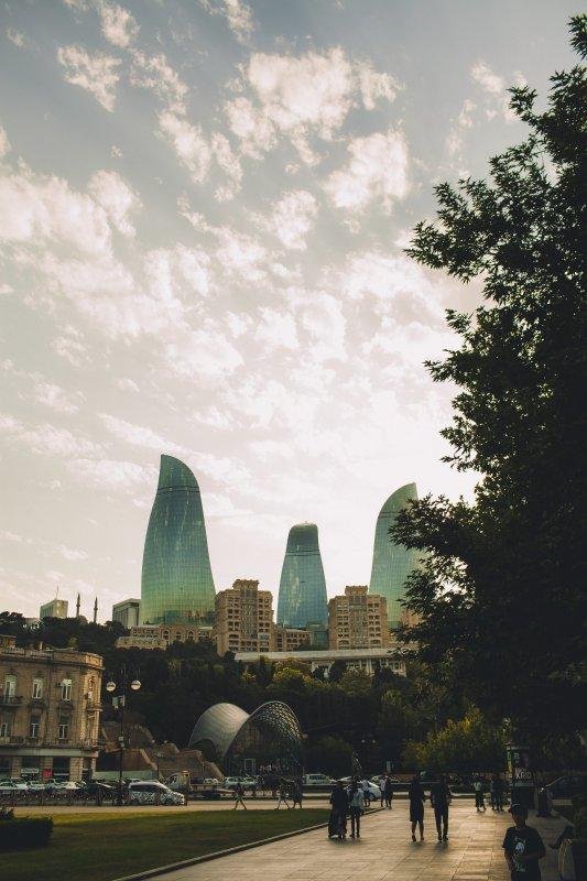 places to visit in Baku: Flame Towers