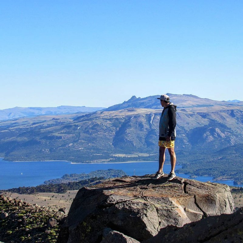 On the volcano summit in Patagonia