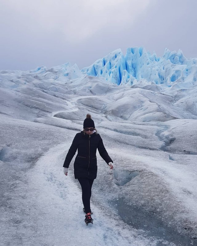Walking on Perito Moreno in Patagonia Glacier