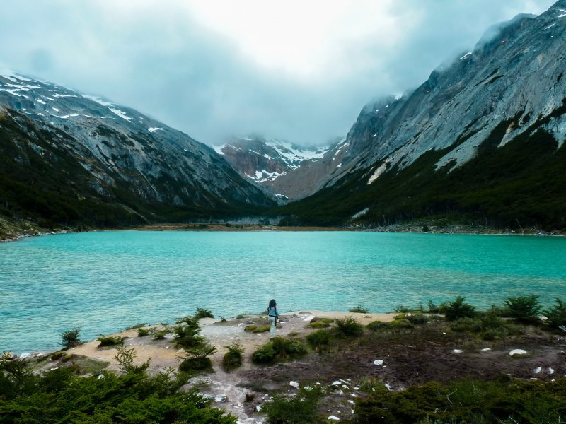 The Esmeralda Lagoon in Patagonia is one of  the things to see