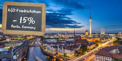 A&O Berlin Friedrichshain -15%