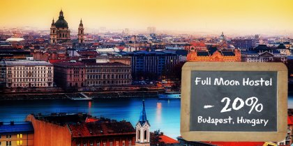 Full Moon Boutique Hostel in Budapest -20%