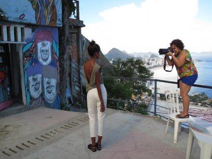 Kuvaushetki favelassa