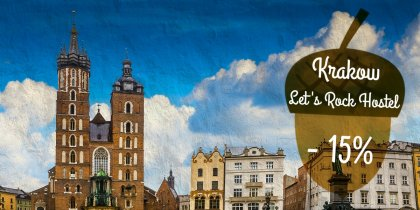 Let's rock hostel, Krakow -15%