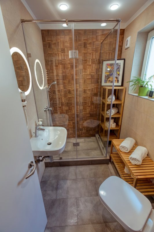 first hostel with nice shared bathroom