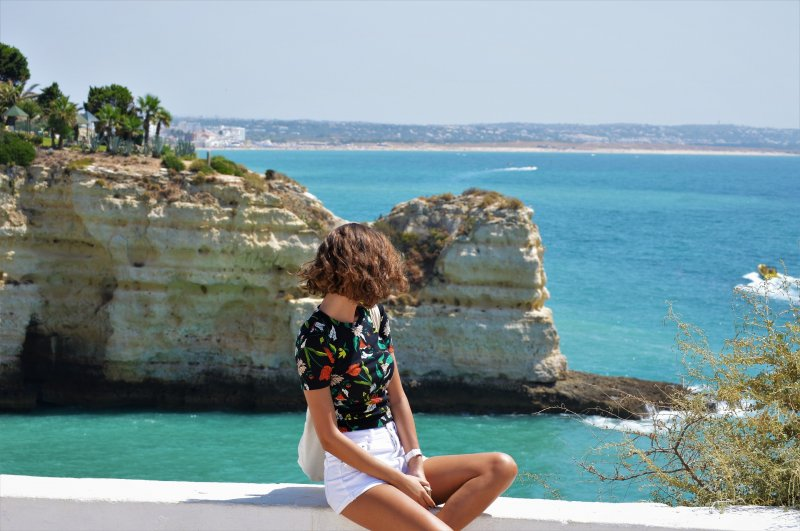 Vista panoramica sulla costa dell'Algarve