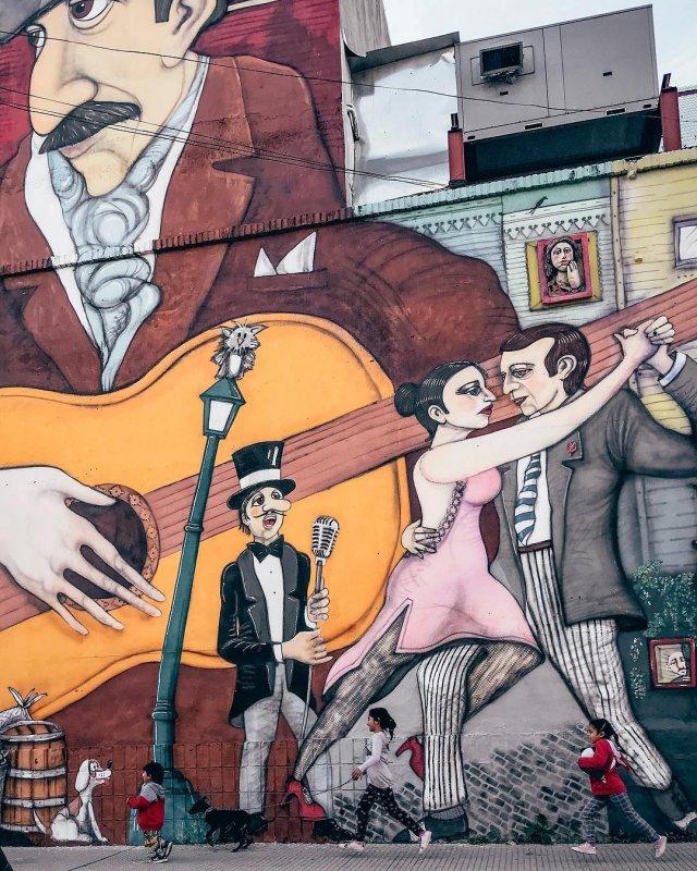 Street Art nel quartier di La Boca