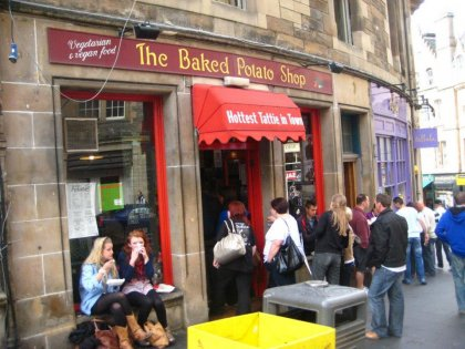 The Baked Potato Shop in Edinburgh