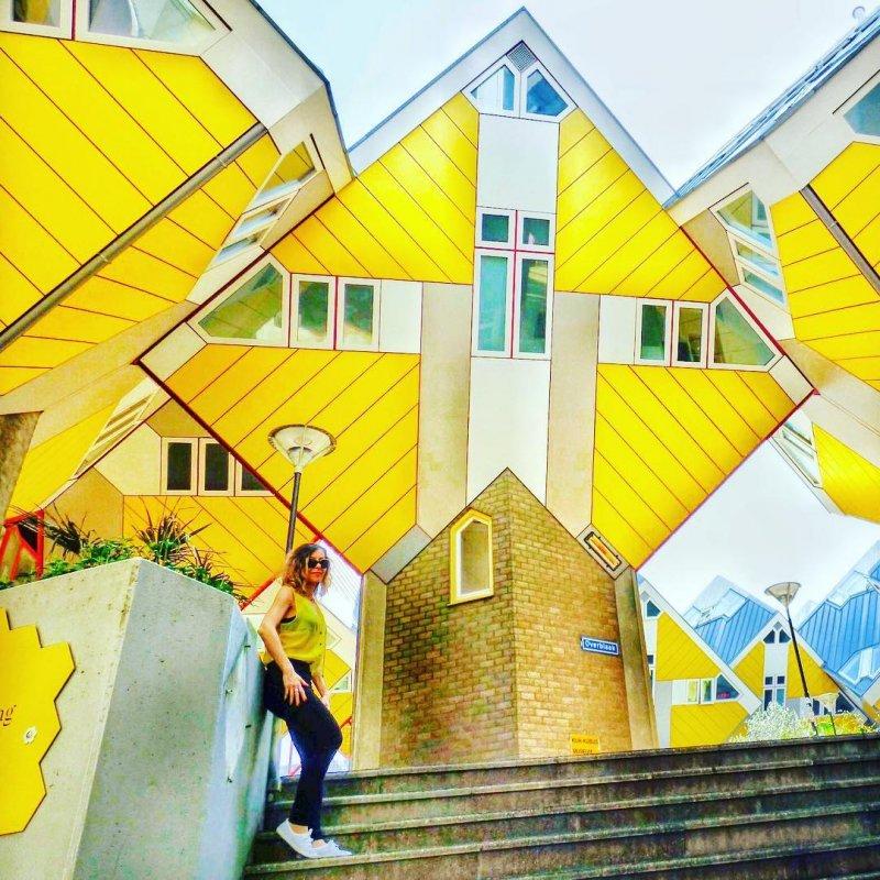 Le bizzarre Cube Houses di Rotterdam dove si trova l'ostello Stayokay
