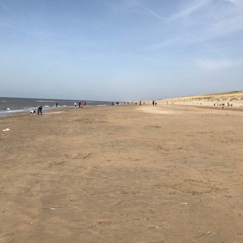 La spiaggia sul Mare del Nord di Noordvijk