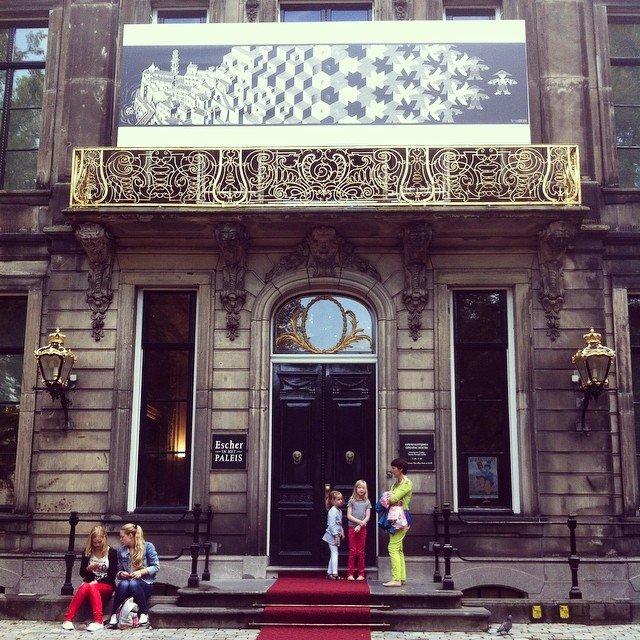 L'ingresso del museo dedicato ad Escher all'Aia