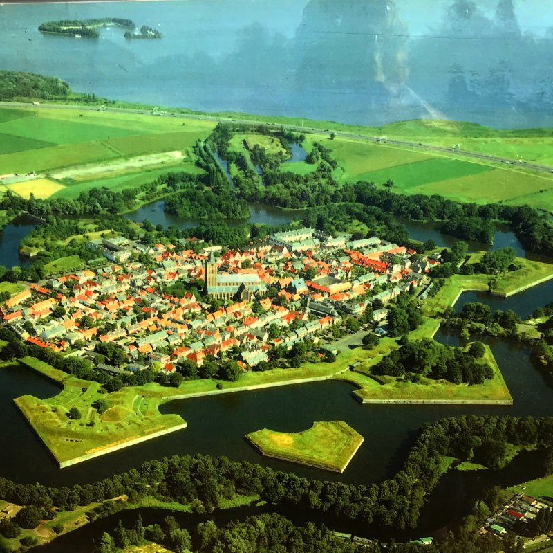 The star shaped city of Naarden