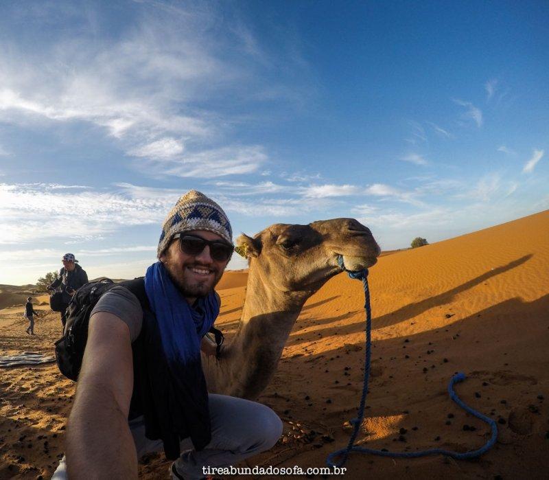Passeio pelo deserto do Saara, em Marrocos