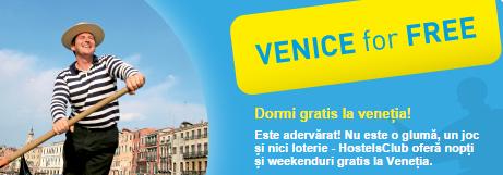 Cazare gratuită în Veneția