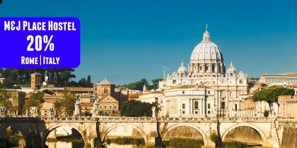 Save 20% in M&J Place Hostel in Rome (big)