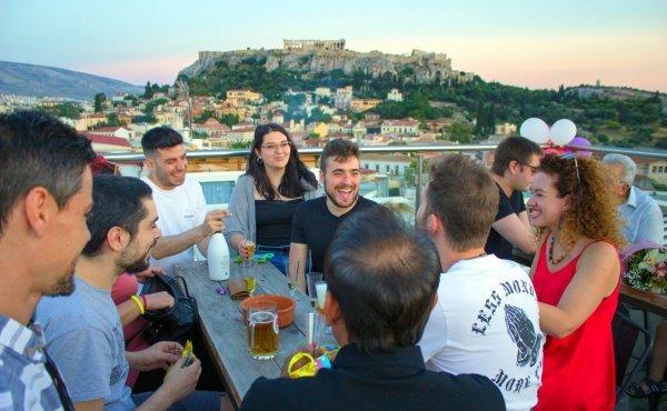 AtheStyle, Atina'daki Partenone manzaralı hostel