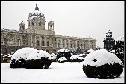 Vienna con la neve