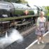 Alison Scott and Chris Bristow, steaming ahead on the GWSR