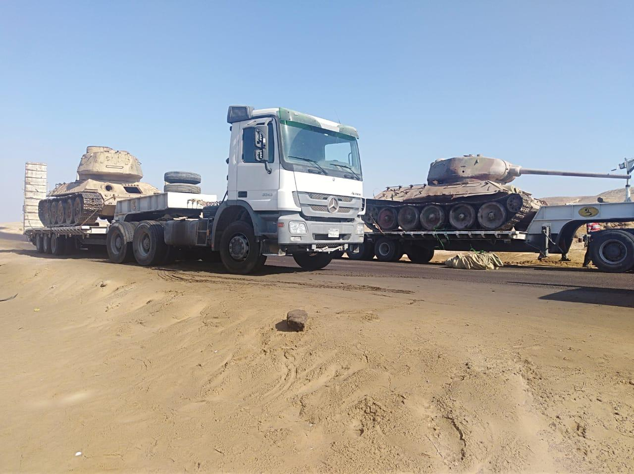 Arrival of Underwater Military Museum Armored Vehicles