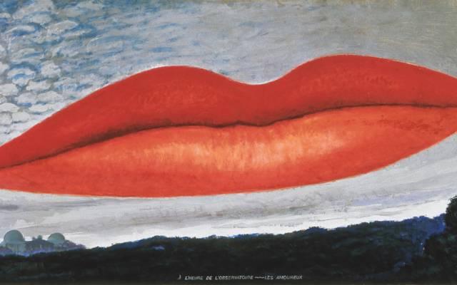 A l'Heure de l'Observatoire, les Amoureux, 1934 Painting by Man Ray. Courtesy Telimage