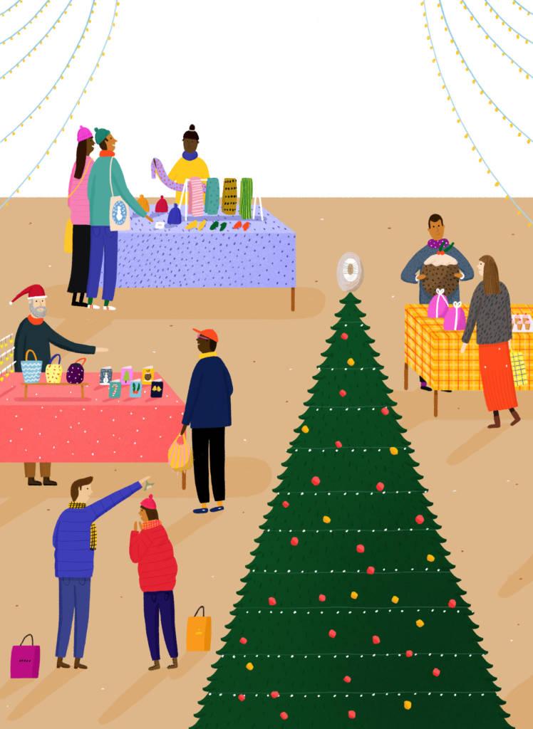 Charlotte Christmas Market.The Hepworth Wakefield Christmas Fair
