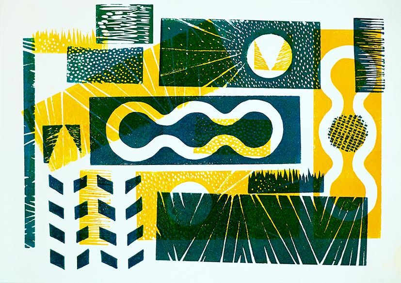 Lino print by Bobshaped