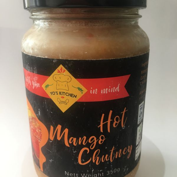 Hot Mango Chutney (350 gram jar)