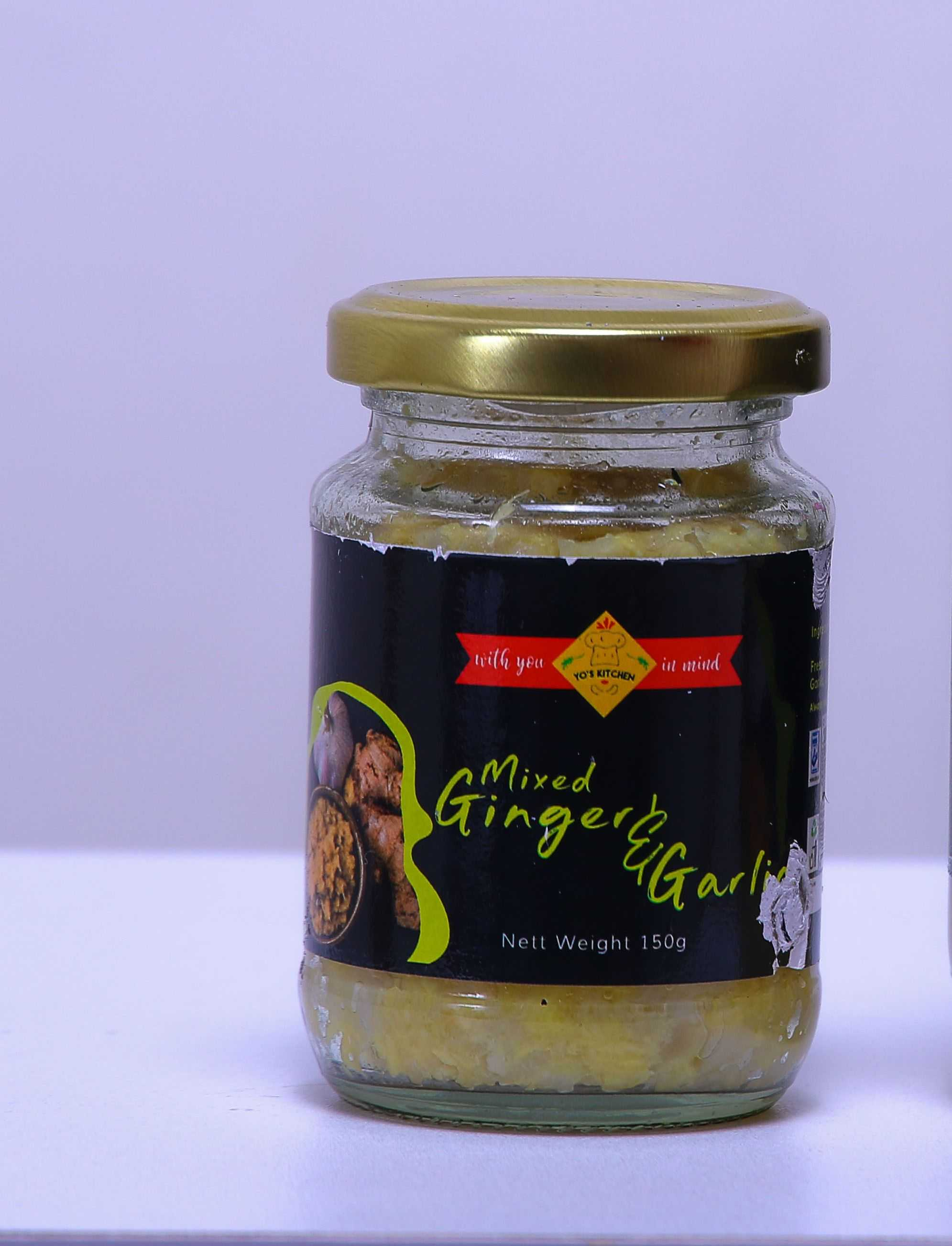 Mixed ginger and garlic paste (150 grams)