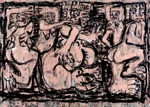 Daniel Crews-Chubb 'Rituals' (bumba and belfie pink) (2016) © Daniel Crews-Chubb, 2017 Image courtesy of the Saatchi Gallery, London