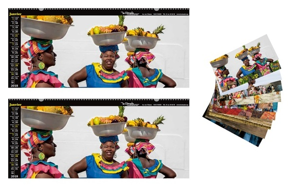 Lot de 2 calendriers du Monde 2018 + 1 pochette de cartes offerte